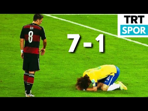 Brezilya 1-7 Almanya 2014 Dünya Kupası Yarı Final Trt Spor Maç Özeti