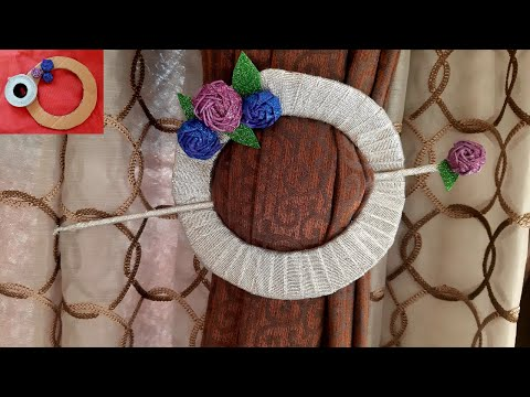 DIY how to make curtains holder out of cardboard | DIY Recycled Carton || Best Out Of Waste