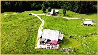AUSTRIA; Salzkammertgut; Bad Mitterndorf; Tauplitz; GNANITZALM - Übersicht: Drohne