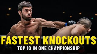 10 Fastest Knockouts In ONE Championship History