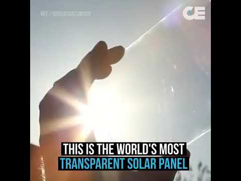Transparent solar panel 2018