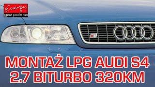 montaż lpg audi s4 z 2 7 biturbo 320km 2001r w energy gaz polska na gaz kme nevo