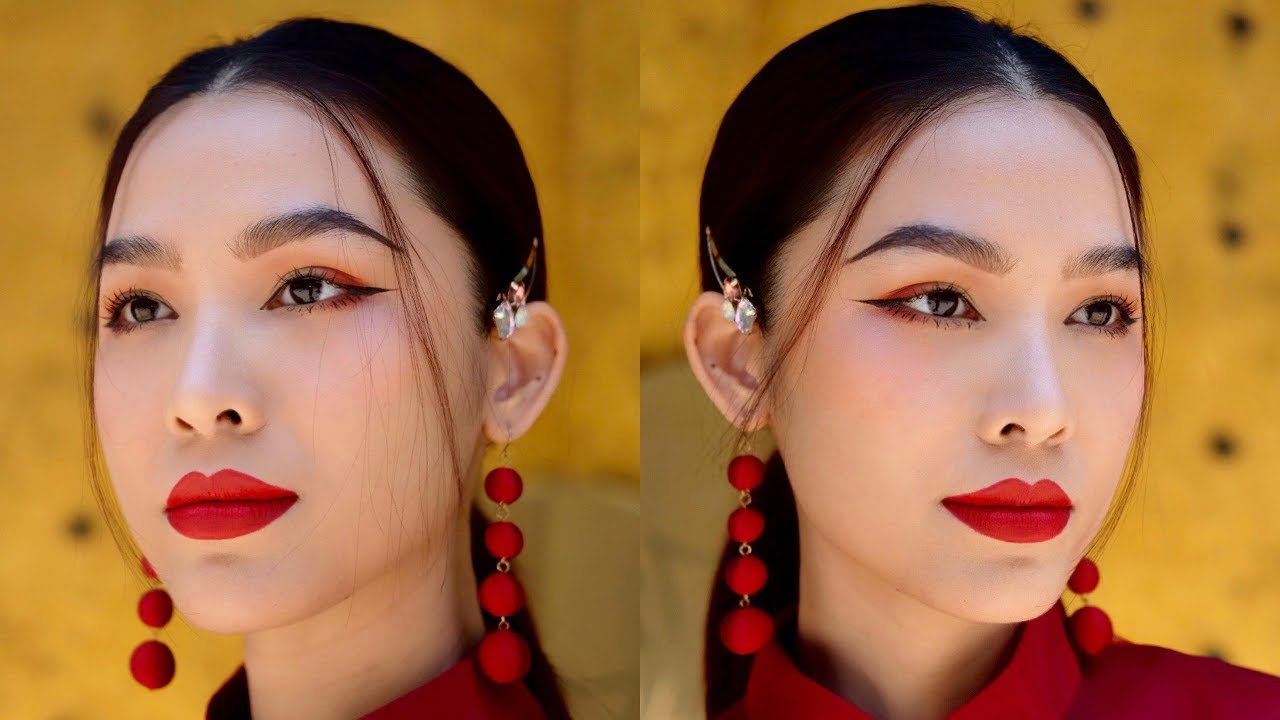 ASIAN MAKEUP LOOK  | Trang điểm phong cách Á Đông | Quach Anh [ENG sub]