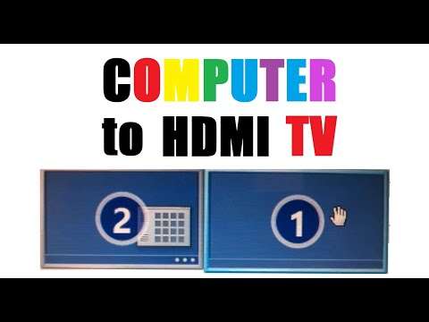 how to connect windows 10 to a tv with hdmi