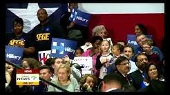 Trump, Clinton dominate presidency race on Super Tuesday polls
