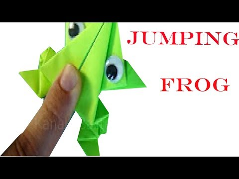 jumping frog origami easy step by step paper craft