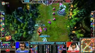 gmb vs sso   gambit gaming vs samsung galaxy ozone   worlds 2013 group b day 1   full game hd