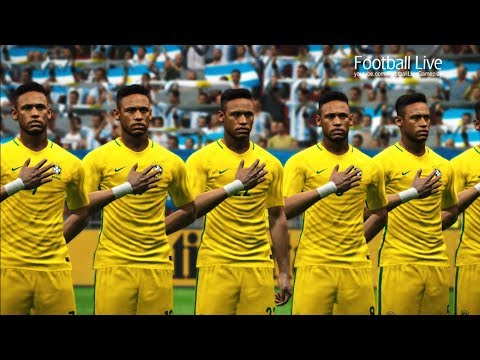 PES 2017   Team NEYMAR JR vs Team L.MESSI   Brazil vs Argentina