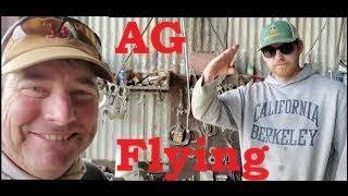 AG Flying! Aerial Rice Seeding N. California April 29 2020