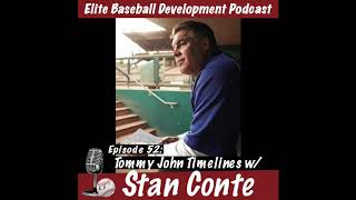 CSP Elite Baseball Development Podcast: Tommy John Timelines with Stan Conte