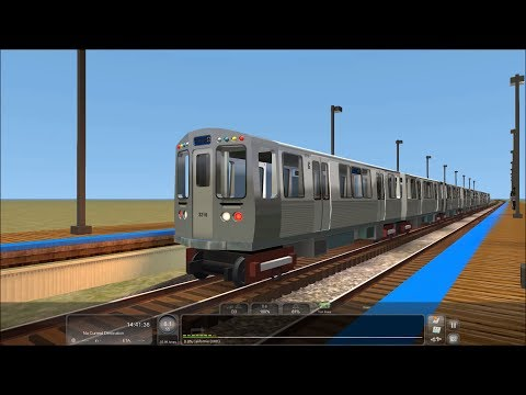 "Train Simulator 2017 HD: Chasing CTA Chicago ""L"" 3200 Series Blue Line Train (6/14/17)"