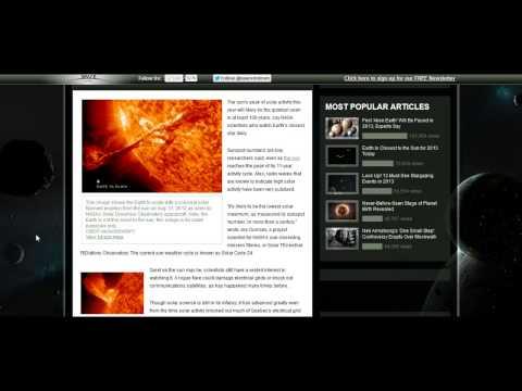 NASA Now Say No Solar Peak, Quietest in Century (7th Jan 2013)