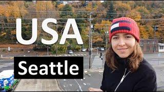 Seattle - морской рынок, 1 кг лосося за 70-100$   Путешествия по США / Видео