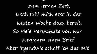 SDP - Anfang Anzufangen / Lyrics