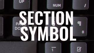 "Legal Keyboard ""Section"" symbol"