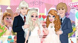 Công chúa Disney Frozen: Trò chơi trang điểm cô dâu cho công chúa Elsa và Anna trong lễ cưới