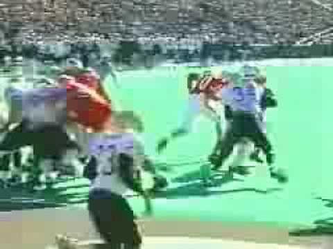 Ron Dayne early career cary runs over Purdue