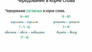 Чередование в корне слова (5 класс, видеоурок-презентация)