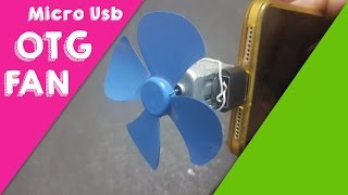 How To Make Micro Usb Otg Fan Mobile Tablet