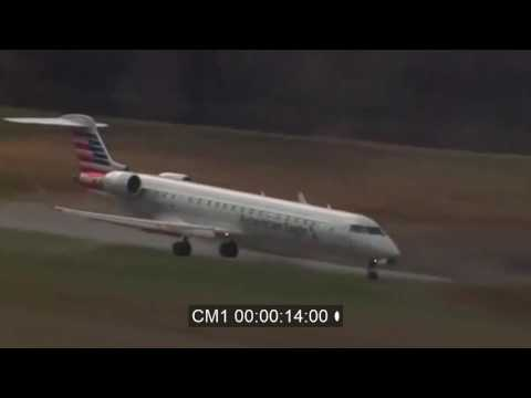 Plane hit's DEER at Charlotte 2-15-2017! REAL ATC recording
