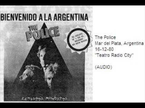 "THE POLICE - Mar del Plata, Argentina 16-12-80 ""Teatro Radio City"" (AUDIO)"