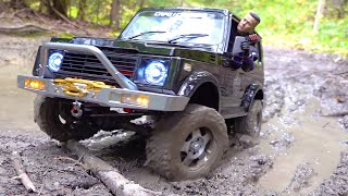 BELT DRIVEN SAMURAI gets MUDDY! 1st Off Road TRAIL RUN - CAPO SIXER 1 4x4 1/6 scale | RC ADVENTURES