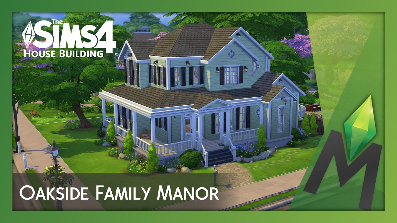 The sims 4 house building oakside family manor youtube for Classic house sims 4
