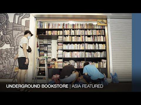 Underground bookstore in Manila, Philippines