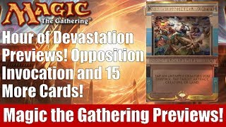 mtg hour of devastation previews 11 invocations and 5 new cards revealed