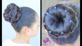 Bun with Elastics | Hairstyles for Girls | Hairstyles for long hair | ChikasChicEng