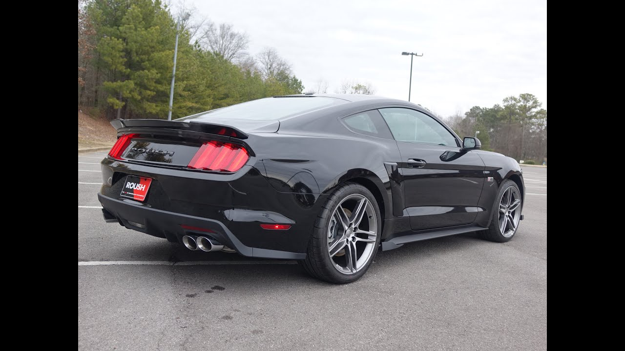 2015 roush stage 2 mustang walkaround exhaust youtube