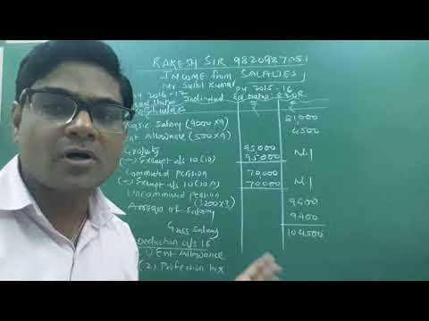 Direct Tax - Income From Salaries Lecture 2 By Rakesh Sir