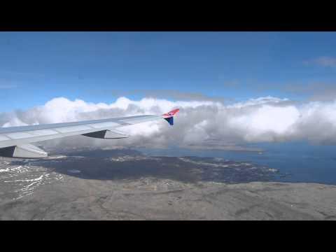 Atlantic Airways Airbus A319 OY-RCG landing at Vagar (Faroe Islands) arriving from Copenhagen