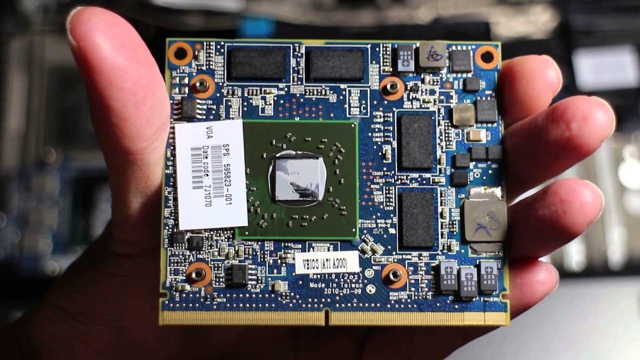 HP EliteBook 8540w MXM graphics card removal