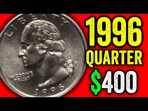YOU COULD HAVE A RARE ERROR QUARTER WORTH MONEY - 1996 QUARTER COIN VALUES