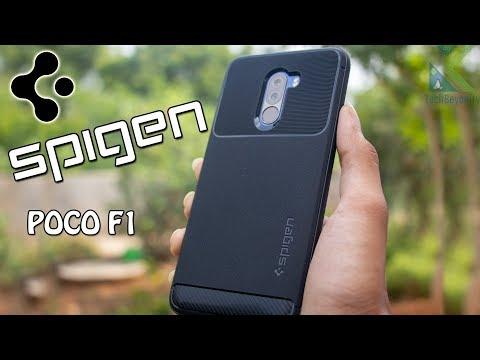 wholesale dealer e0608 1e279 Poco F1 Best Durable case unboxing & Review [SPIGEN]! - YouTube