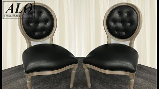 DIY - HOW TO REUPHOLSTER A DINING ROOM CHAIR WITH BUTTONS - ALO Upholstery