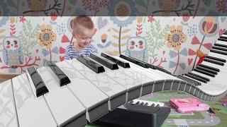 Приколы с детьми. Ваня и медведь. Уроки игры на пианино