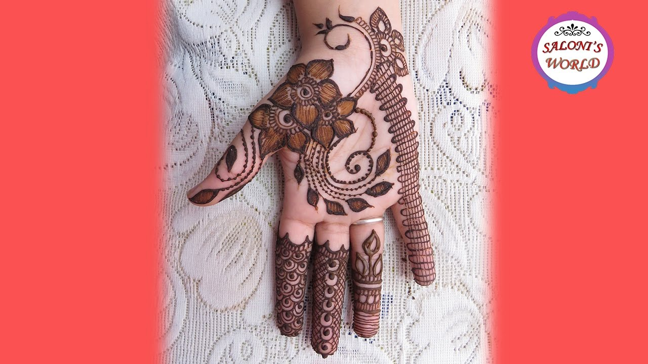 Mehndi Henna Designs S : Stylish easy simple mehndi henna designs for hands tutorial by jyoti