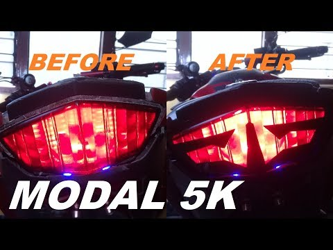 How to Make Manual Cutting Sticker STOP LAMP Vixion fz150i | #AndreasDAP 32