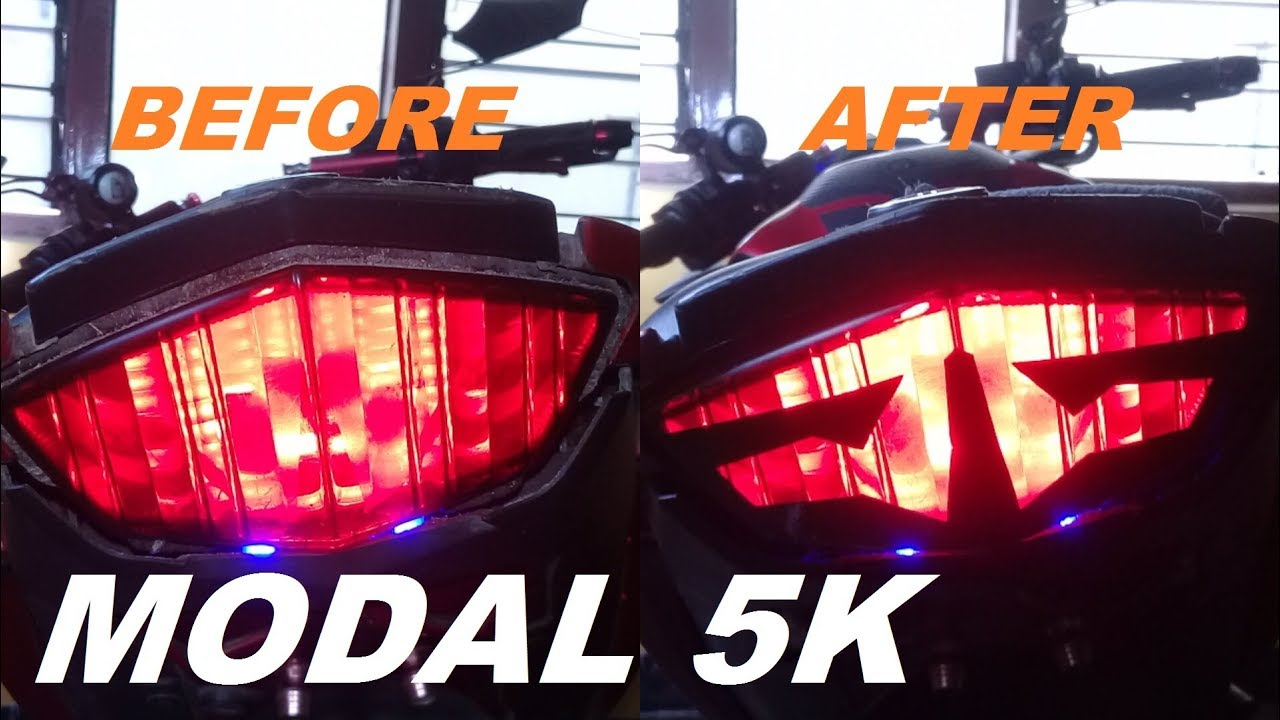 How To Make Manual Cutting Sticker Stop Lamp Vixion Fz150i Andreasdap 32 Youtube
