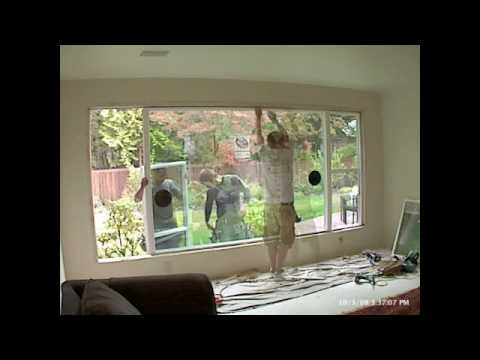 Time-lapse picture window replacement