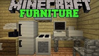 Minecraft: FURNITURE MOD (COMPUTER, TV, FRIDGE, OVEN, COUCH, & MORE!) Mod Showcase