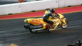 Motorrad mit Turbine