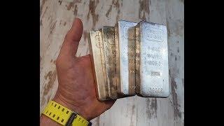 """LOS ENCANTES DESDE DENTRO"" #7 -lingotes CREDIT SUISSE 4 kg de plata pura-"