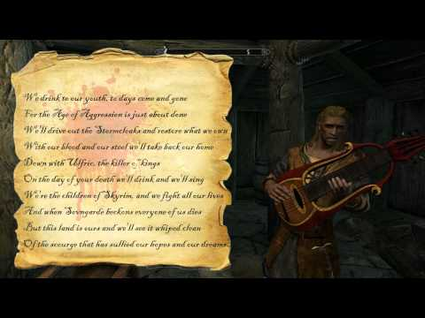 The Elder Scrolls 5 : Skyrim - Age of Aggression song +lyrics [HD]