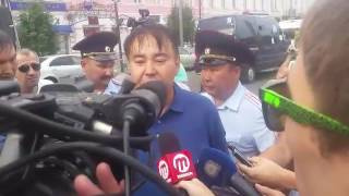 Кандидата на пост главы Бурятии задержали на митинге в Улан-Удэ