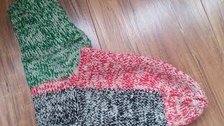 Вязание носка с отдельной подошвой спицами
