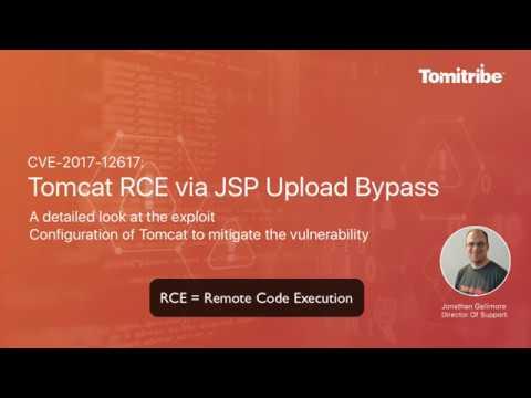 CVE-2017-12617 Tomcat RCE via JSP Upload Bypass