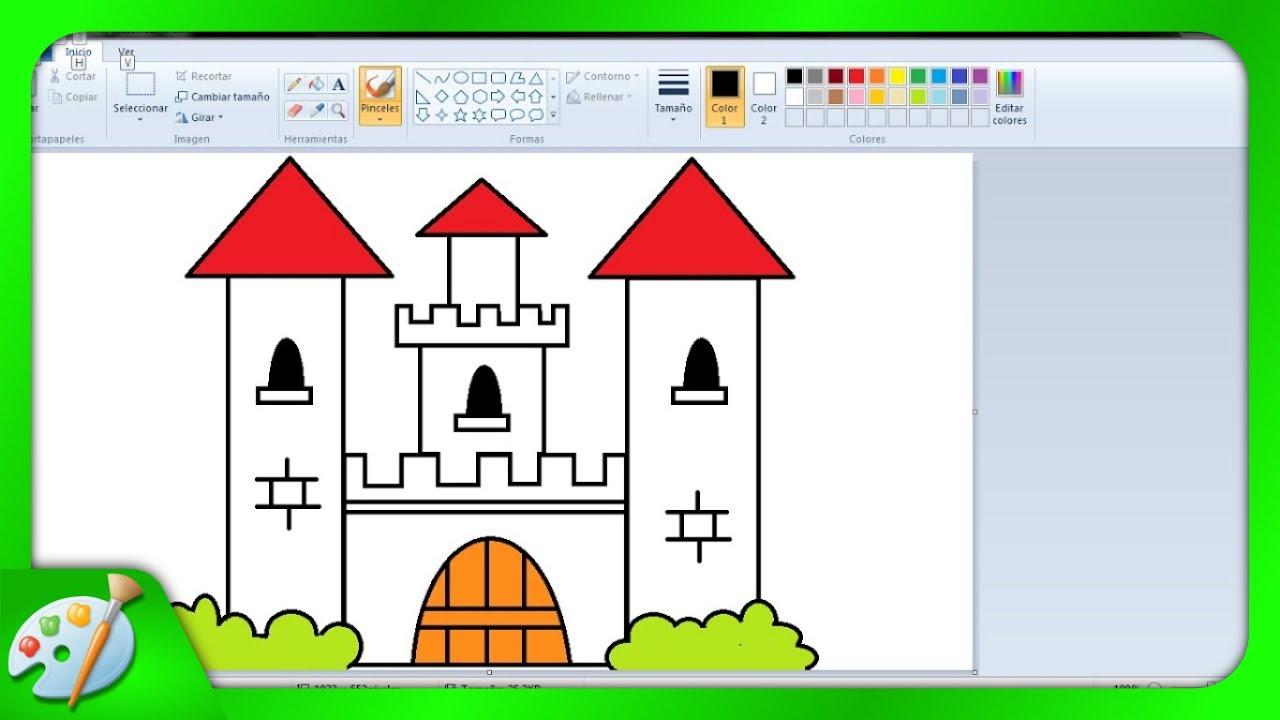 49 Dibujos Para Ninos Con Paint Como Dibujar Un Castillo Con Paint Youtube Castillos Para Dibujar Dibujos Para Ninos Castillos